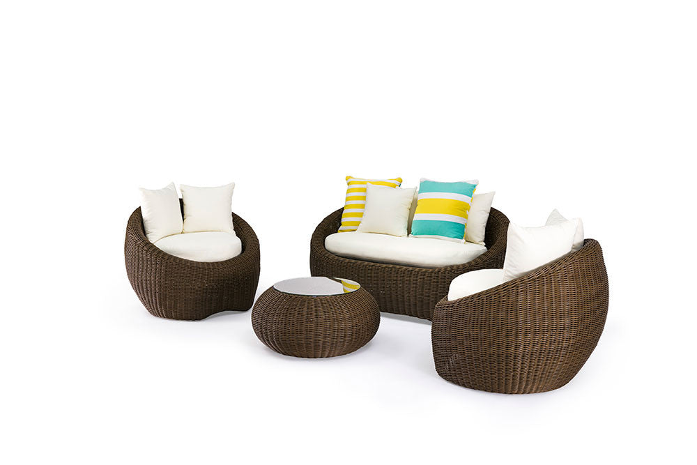 ansan outdoor furniture bondi 4 piece outdoor wicker sofa set - Furniture Bondi