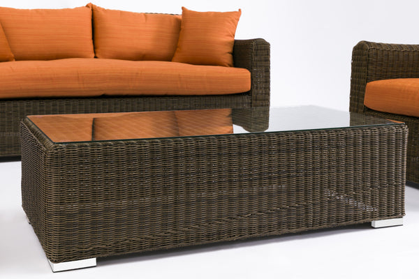 Ansan Outdoor Furniture 3 Seat Sofa, Chair and Coffee Table Set