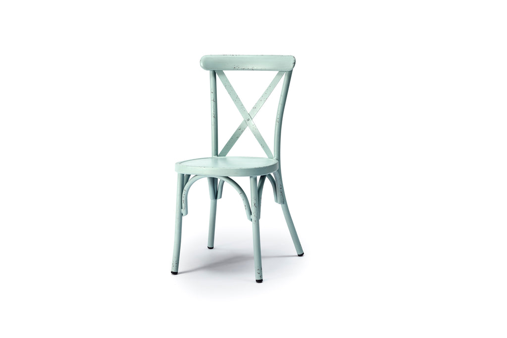 Capel Crossback Pastel Aluminium Dining Chairs