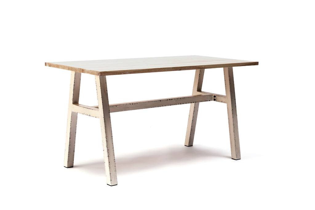 Capel 4 Seat Aluminium and Ash Wood Dining Table