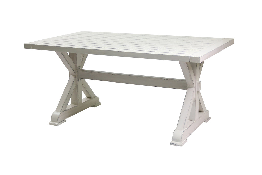 Capel Outdoor Aluminium White Wash Dining Table
