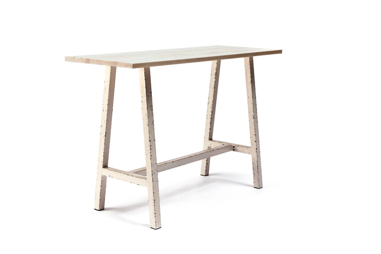 Capel 4 Seat Aluminium and Ash Wood Bar Table