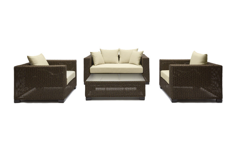 Ansan Outdoor Furniture Bondi 4 Piece Outdoor Wicker Sofa Set
