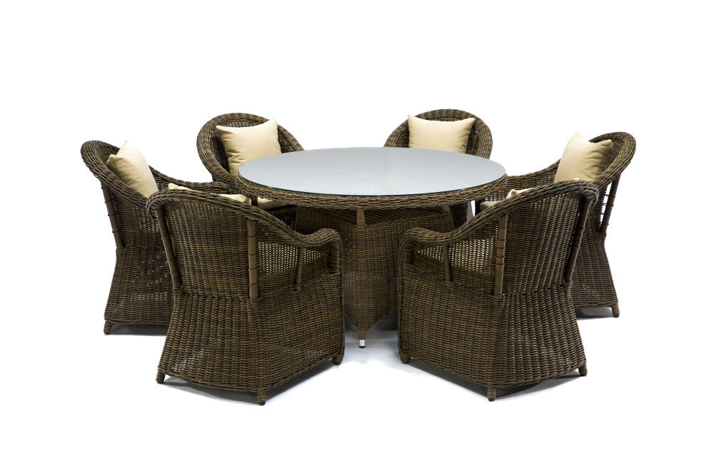 ... Ansan Outdoor Furniture Saba Round Outdoor Wicker Dining Set ...