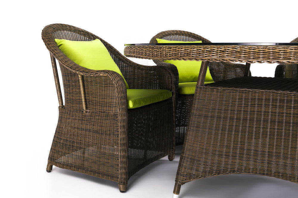 Ansan Outdoor Furniture Saba Round Outdoor Wicker Dining Set