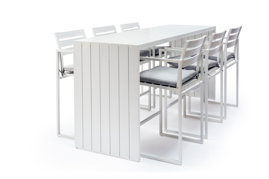 Whitehaven Aluminium 6 Seat Outdoor Bar Set