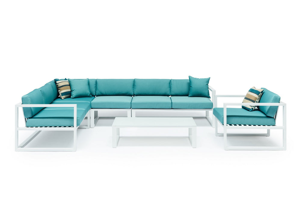 Whitehaven Outdoor Aluminium Corner Sofa Set