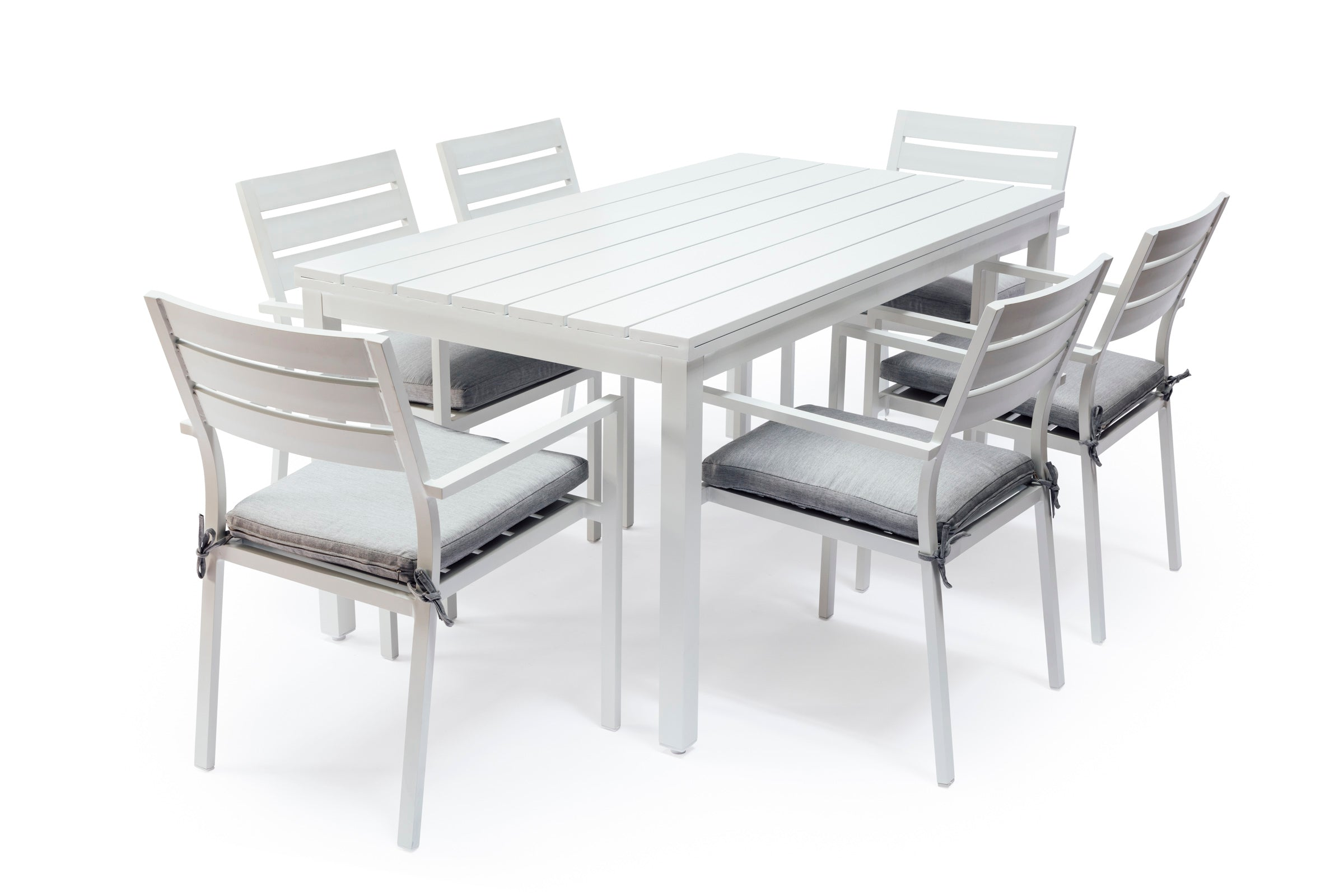 Whitehaven Aluminium 6 Seat Outdoor Dining Table And