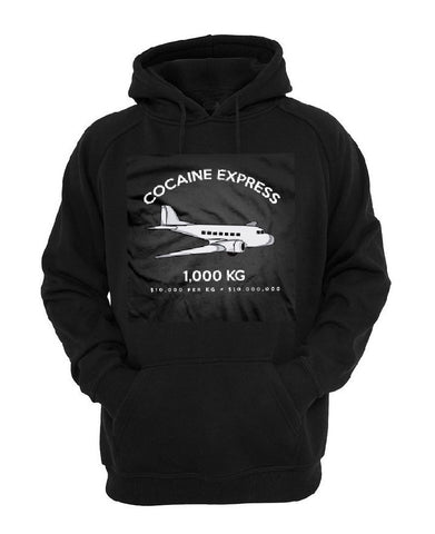 The COCAINE EXPRESS hoodie 100% POLYESTER