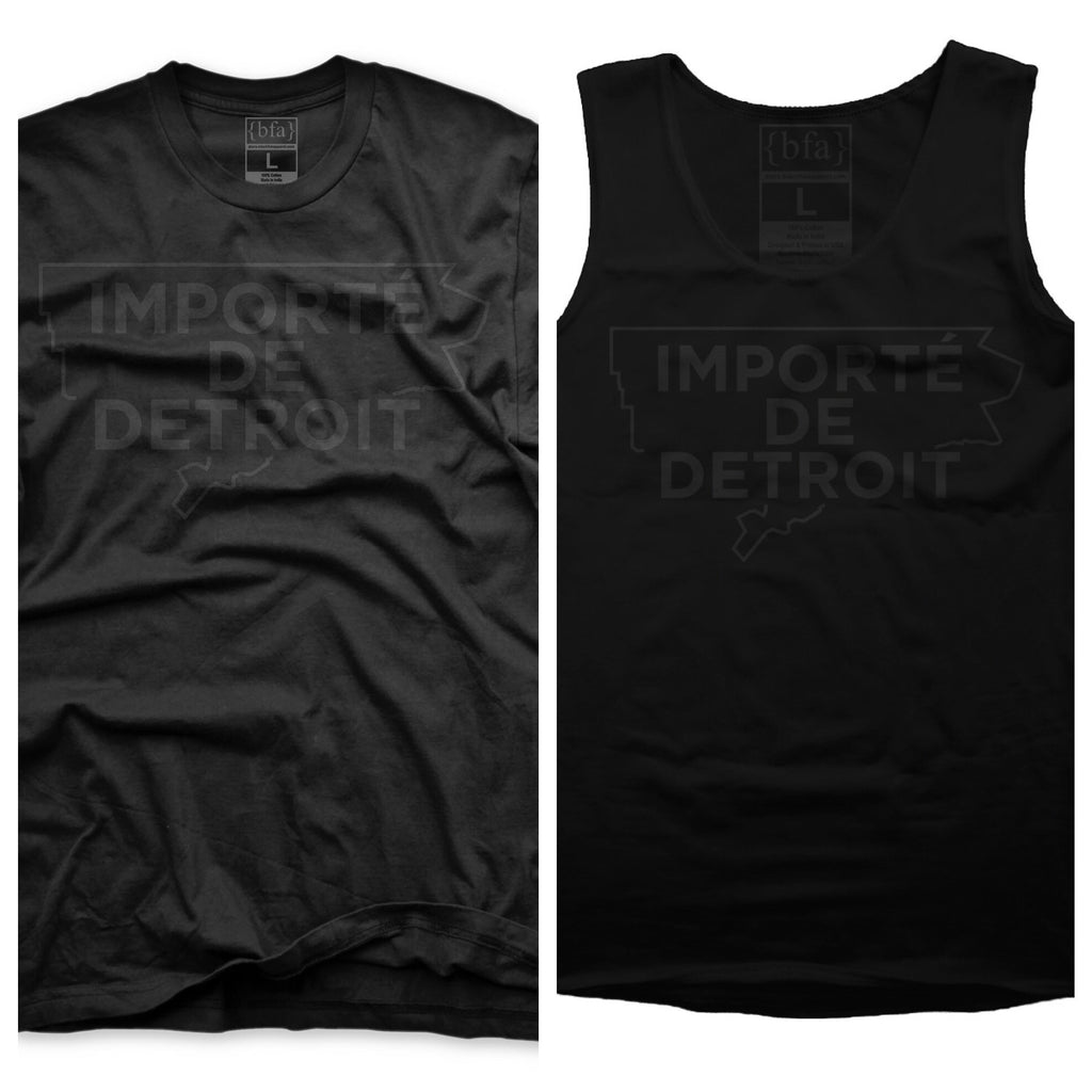 Importe de Detroit T-Shirts and Tanktops available this weekend