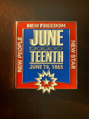 juneteenth soft enamel pin
