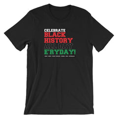 celebrate black history everyday t-shirt