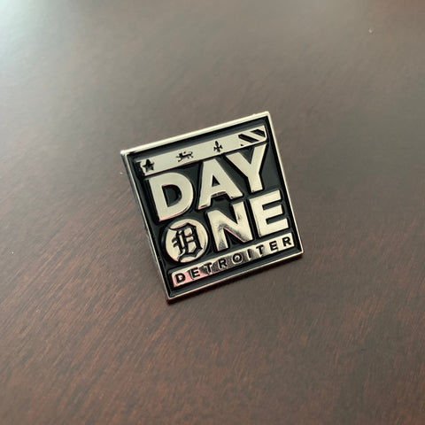 Day one detroiter soft enamel lapel pin