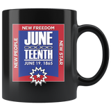Juneteenth 11 oz Black Mug