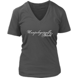 Unapologetically Black Womens V-Neck T-Shirt - Multiple Colors