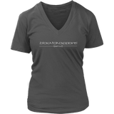 Tha Truth blackfokapparel Charcoal Women's V-neck T-shirt