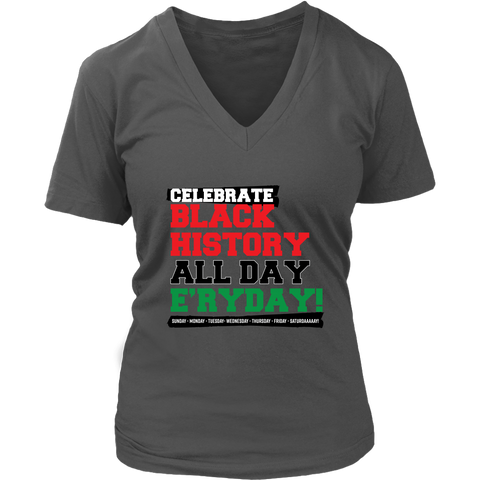 Celebrate Black History Women's V-Neck T-shirt