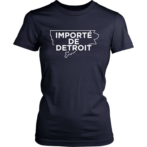 Importe de Detroit Navy White Womens T-shirt