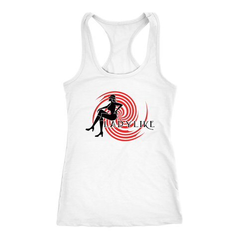 Ladylike Women's Racerback Tanktop Black and Red