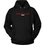The Blackfokapparel Definition Red Logo Black Hoodie