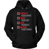 the pledge protect trust love defend hoodie