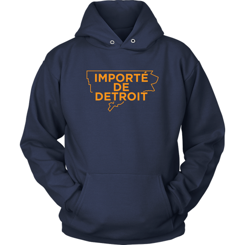 Importe De Detroit Navy Orange Hoodie