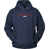 The Blackfokapparel Definition Red Logo Navy Hoodie