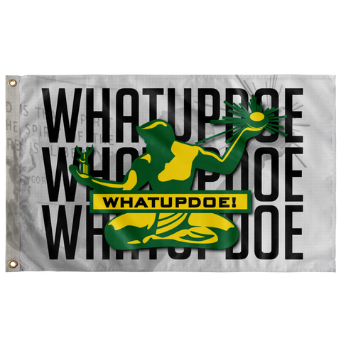 Whatupdoe Detroit Spirit of Detroit Wall Flag