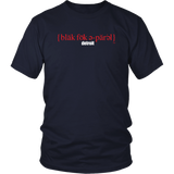 The Blackfokapparel Definition Red Logo Navy T-Shirt