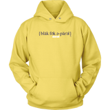 The Blackfokapparel Definition Navy Logo Yellow Hoodie