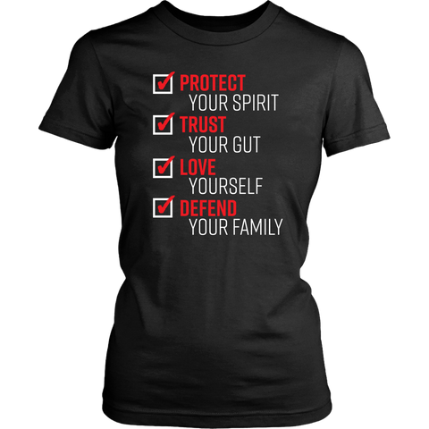 the pledge protect trust love defend womens tshirt