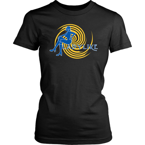 Ladylike Women's T-shirt – Royal Blue and Gold