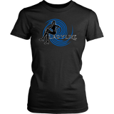 Ladylike Womens T-shirt-Black and Royal