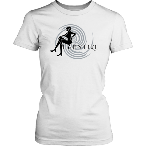 Ladylike Womens T-shirt-Black and Grey