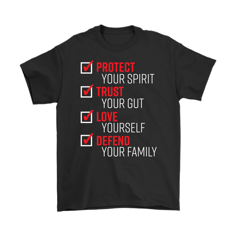 the pledge protect trust love defend t-shirt
