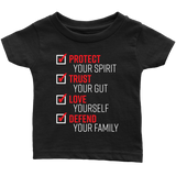 The Pledge - Protect Trust Love Defend Infant T-shirt