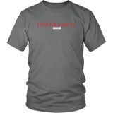 The Blackfokapparel Definition Red Logo Grey T-Shirt