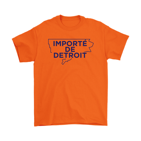 Importe de Detroit - Navy on Orange Limited Edition T-shirt