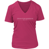 Tha Truth blackfokapparel Pink Women's V-neck T-shirt