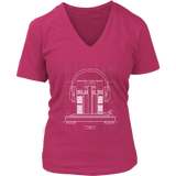 The Perfect Beat Womens V-Neck T-Shirt