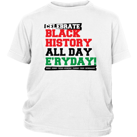 Celebrate Black History Youth T-shirt Multiple Colors