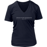 Tha Truth blackfokapparel Navy Women's V-neck T-shirt