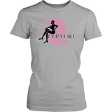 Ladylike Womens T-shirt-Black and Pink