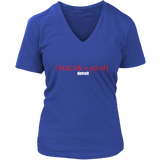 The Blackfokapparel Definition Red Logo Royal Women's V-Neck T-Shirt