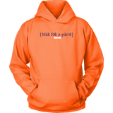 The Blackfokapparel Definition Navy Logo Orange Hoodie