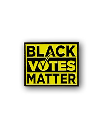 black votes matter soft enamel pin