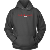 The Blackfokapparel Definition Red Logo Charcoal Hoodie