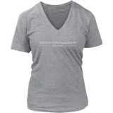 Tha Truth blackfokapparel Grey Women's V-neck T-shirt