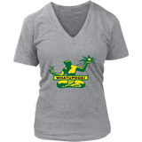Whatupdoe Detroit Spirit of Detroit Women's V-Neck T-Shirt