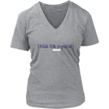 The Blackfokapparel Definition Navy Logo Grey Women's V-Neck T-Shirt